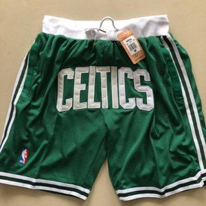New Just Don NBA Boston Celtics Basketball Shorts